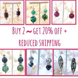 Sterling & Gold Filled Earrings  20% OFF Bundles